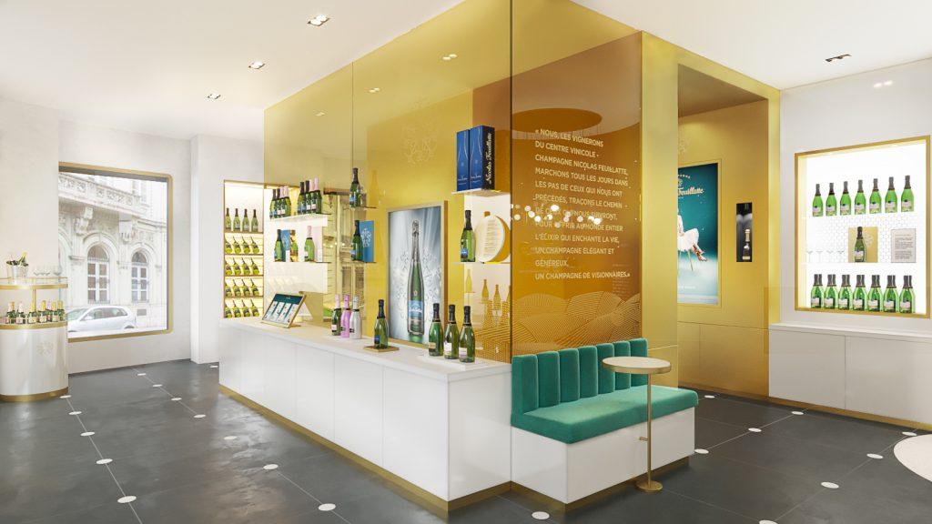 Agence retail design concept store feuillatte