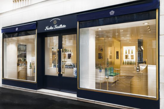 Agence retail design concept store feuillatte